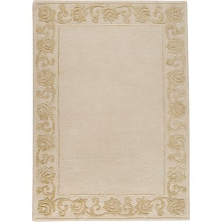 M.A.Trading Hand-tufted Vienna Cream New Zealand Wool Rug (5'6 x 7'10)
