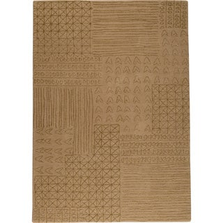 M.A.Trading Hand-tufted Tripoli Beige New Zealand Wool Rug (5'6 x 7'10) (India)