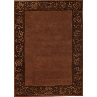 M.A.Trading Hand-tufted Vienna Chocolate New Zealand Wool Rug (5'6 x 7'10)