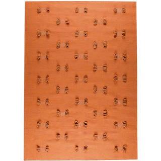 Handmade Napoli Orange New Zealand Wool Rug (India)