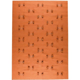 M.A.Trading Hand-woven Napoli Orange New Zealand Wool Rug (5'6 x 7'10)