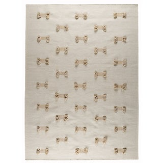 M.A.Trading Hand-woven Napoli White New Zealand Wool Rug (5'6 x 7'10)