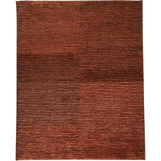 M.A.Trading Hand-woven Nature Rust/ Rust New Zealand Wool Rug (5'6 x 7'10)