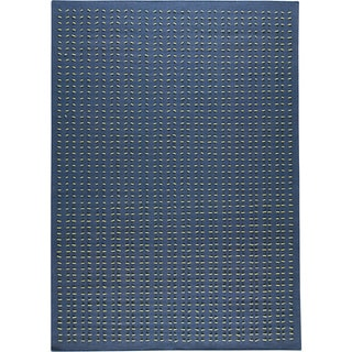M.A.Trading Hand-woven Palmdale Blue New Zealand Wool Rug (5'6 x 7'10)