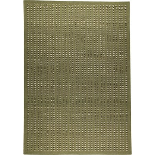 M.A.Trading Hand-woven Palmdale Green New Zealand Wool Rug (5'6 x 7'10)