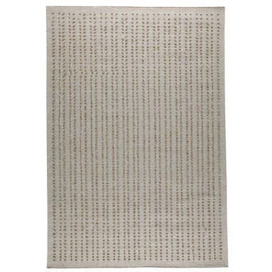 Handmade Palmdale White New Zealand Wool Rug (India)