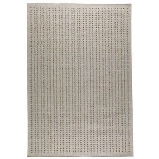 M.A.Trading Hand-woven Palmdale White New Zealand Wool Rug (5'6 x 7'10)