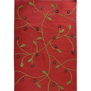 M.A.Trading Hand-woven Santa Fe Red New Zealand Wool Rug (5'6 x 7'10)