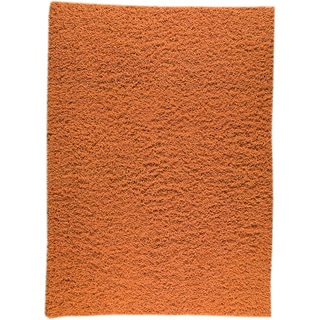 M.A.Trading Hand-woven London Mix Orange New Zealand Wool Rug (6'6 x 6'6)