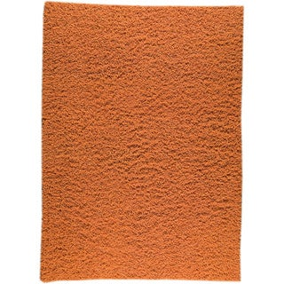 M.A.Trading Hand-woven London Mix Orange New Zealand Wool Rug (6'6 x 6'6) (India)