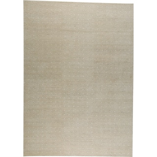 M.A.Trading Hand-knotted Snow White New Zealand Wool Rug (6'6 x 9'9)