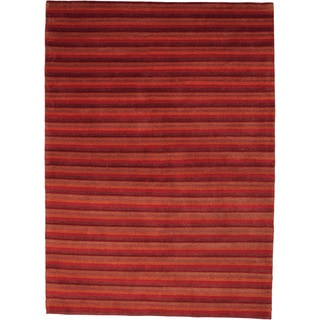 M.A.Trading Hand-knotted Visby Red New Zealand Wool Rug (6'6 x 9'9)