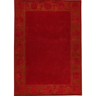 M.A.Trading Hand-tufted Vienna Red New Zealand Wool Rug (6'6 x 9'9)