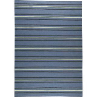 M.A.Trading Hand-woven Savannah Blue New Zealand Wool Rug (6'6 x 9'9)