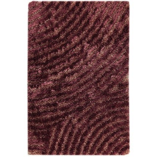 M.A.Trading Hand-tufted Tweed Purple Area Rug (7'10 x 9'10)