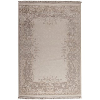 M.A.Trading Abundance White/ Beige New Zealand Wool Rug