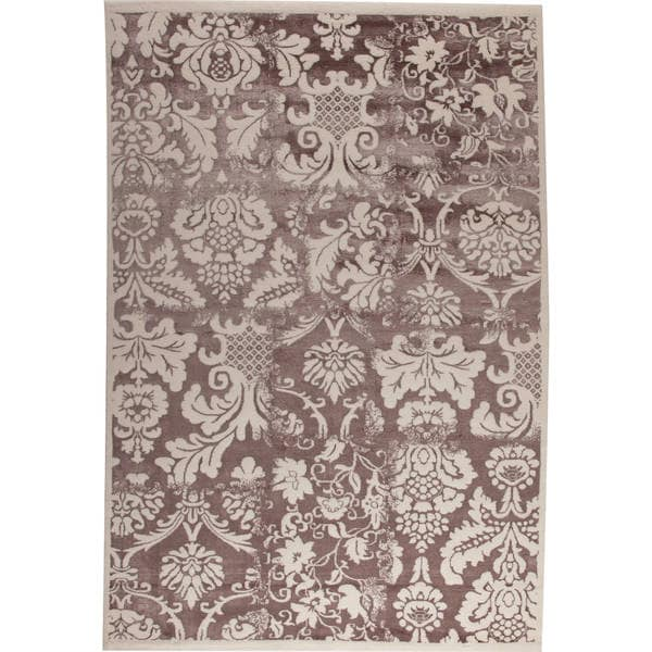 M.A.Trading Baroque White/ Brown New Zealand Wool Rug (7'10 x 9'10)