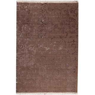 M.A.Trading Sateen Brown New Zealand Wool Rug (7'10 x 9'10)
