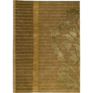 M.A.Trading Hand-knotted Cortina Green New Zealand Wool Rug (8'3x11'6)