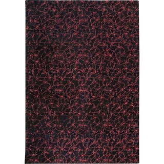 M.A.Trading Hand-tufted Madeira Black/ Red New Zealand Wool Rug (8'3 x 11'6)