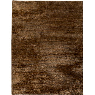 M.A.Trading Hand-woven Nature Dk. Brown New Zealand Wool Rug (8'3 x 11'6)