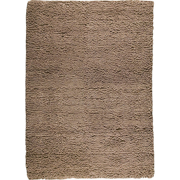 Handmade M A Trading Square Brown New Zealand Wool Rug India