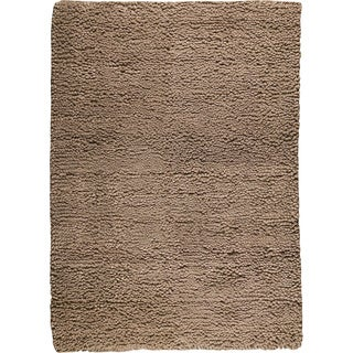 M.A.Trading Hand-woven Square Brown New Zealand Wool Rug (9'x 12')