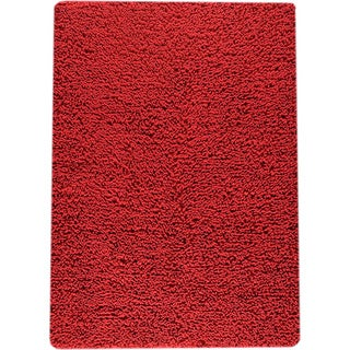 M.A.Trading Hand-woven Square Red New Zealand Wool Rug (9'x 12') (India)