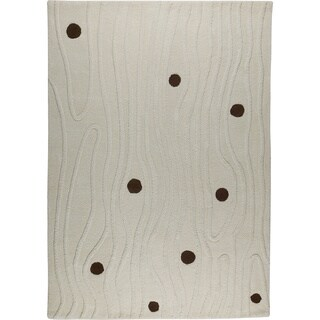 M.A.Trading Hand-tufted Izmir White New Zealand Wool Rug (5'6 x 7'10)
