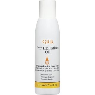 Gigi Lotions Pre-Epilating 4-ounce Oil