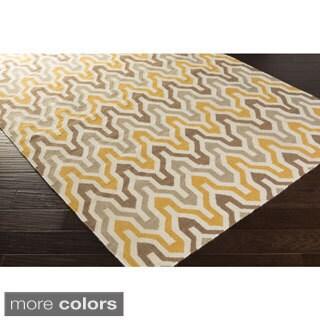 Hand-Woven Dennis Reversible Wool Rug (2' x 3')