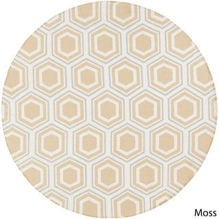 Hand-Woven Lea Reversible Wool Rug (8' Round)