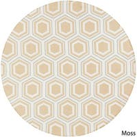 Hand-Woven Lea Reversible Wool Area Rug (8' Round)