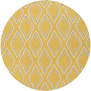 Hand-Woven Asa Reversible Wool Rug (8' Round)