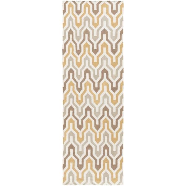 Hand-Woven Dennis Reversible Wool Rug (2'6 x 8')