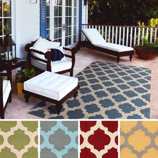 Hand-Hooked Jada Moroccan Trellis Indoor/Outdoor Polypropylene Rug (5' x 7'6)
