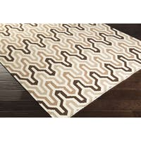 Hand-Woven Dennis Reversible Wool Area Rug - 5' x 8'