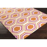 Hand-Woven Lea Reversible Wool Area Rug - 8' x 11'