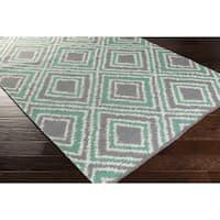 Hand-Woven Aiyana Wool Area Rug - 8' x 11'