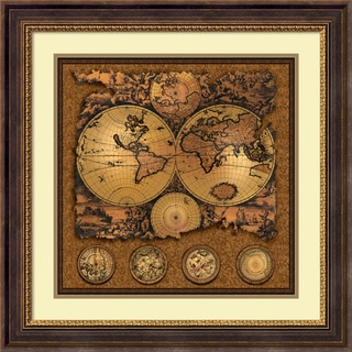 Max Besjana 'Cartographica 3' Framed Art Print 29 x 29-inch