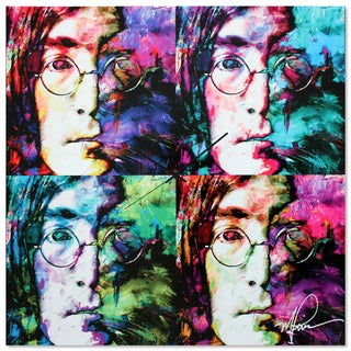Metal Art Studio 'John Lennon Beatles Clock' Colorful Pop Art Urban Wall Clock