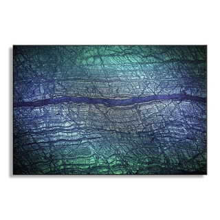 Gallery Direct Andrey Volokhatiuk's 'Purple Stripes' Metal Art