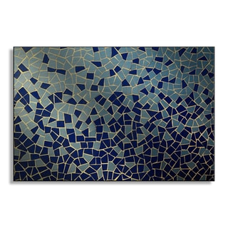 Gallery Direct Underworld's 'Blue and Teal Mosaic' Metal Art