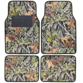 BDK Camouflage 4-piece Car Floor Mats with Rubber Backing
