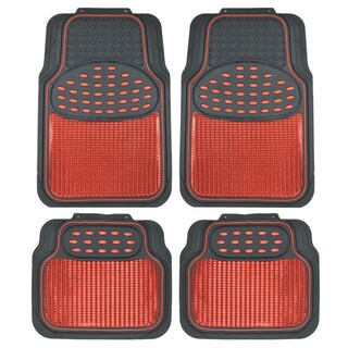 BDK 4-piece Heavy-duty Metallic Rubber Mat Set