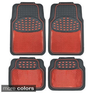 BDK Heavy-duty 4-piece Metallic Rubber Mats (Option: Blue)