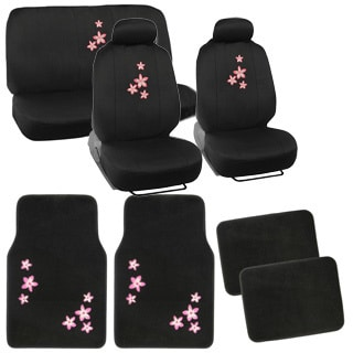 BDK Flore Car Seat Covers and Floor Mats Set