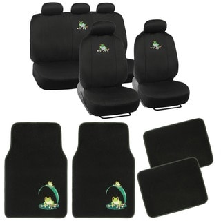 BDK Frog Car Seat Covers and Floor Mats Set