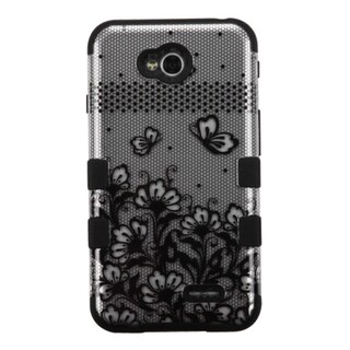 INSTEN Tuff Hybrid Rubberized Hard PC/ Silicone Phone Case Cover For LG Optimus Exceed 2 VS450PP Verizon/ L70 MS323