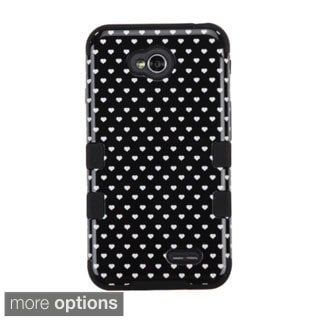 INSTEN Tuff Hybrid Rubberized Hard PC Silicone Phone Case Cover For LG Optimus Exceed 2 VS450PP Verizon/ L70 MS323/ Realm LS620